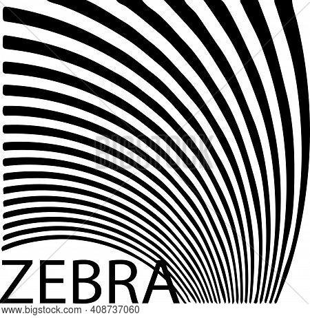 Zebra Stripes Illustration Isolated On Background  Stripe, Striped, Stripes