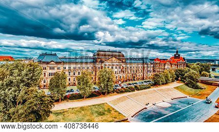 The Ministry Of Finance Of Saxony,city Views One Of The Most Beautiful City Germany- Dresden. Dresde