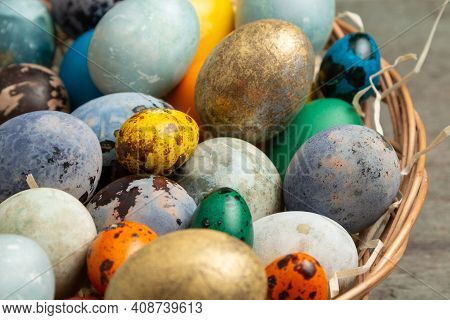 Happy Easter Colorful Decoration Background. Easter Banner Background