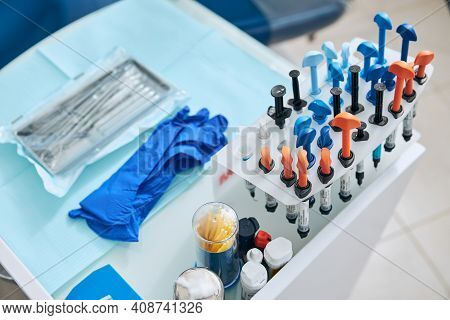 Close Up Of Sterile Instruments Being Ready For Use