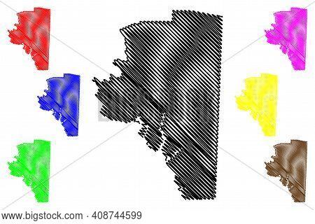 Davidson County, North Carolina State (u.s. County, United States Of America, Usa, U.s., Us) Map Vec