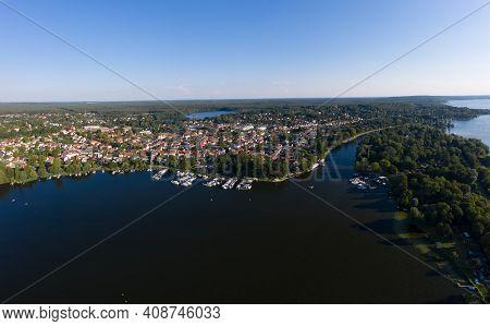 Aerial View Of Caputh And Lake Schwielow, Berlin Brandenburg