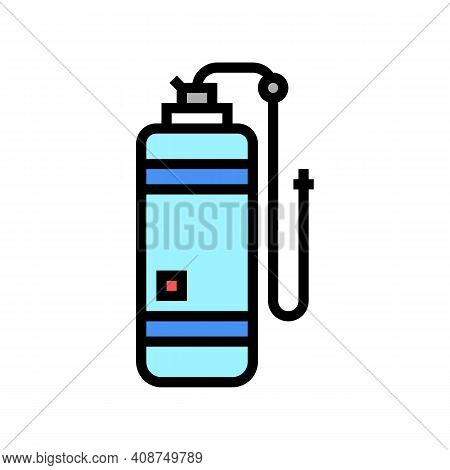 Anesthesia Gas Cylinder Color Icon Vector. Anesthesia Gas Cylinder Sign. Isolated Symbol Illustratio