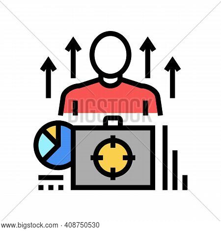 Business Expert Color Icon Vector. Business Expert Sign. Isolated Symbol Illustration