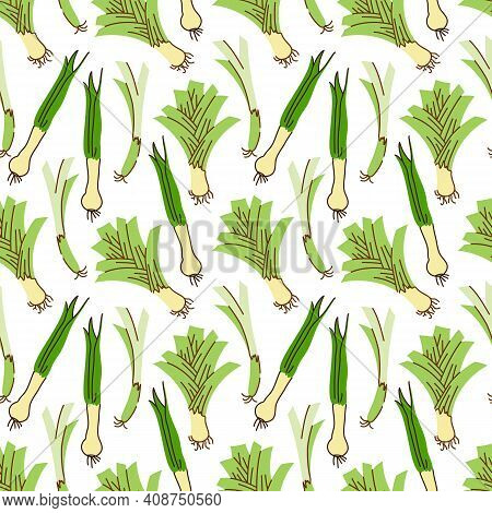 Lemongrass Vector Seamless Pattern Background Vector. Background For Menu, Packaging, Wrappers, Kitc