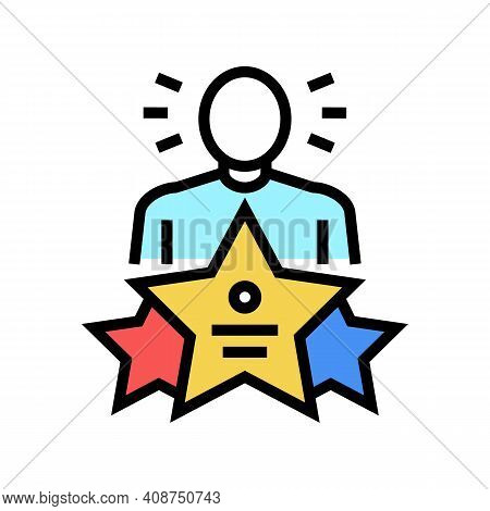 Universal Expert Color Icon Vector. Universal Expert Sign. Isolated Symbol Illustration