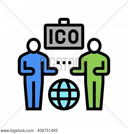 Investors Ico Color Icon Vector. Investors Ico Sign. Isolated Symbol Illustration