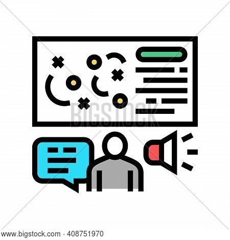 Pr Strategy Color Icon Vector. Pr Strategy Sign. Isolated Symbol Illustration