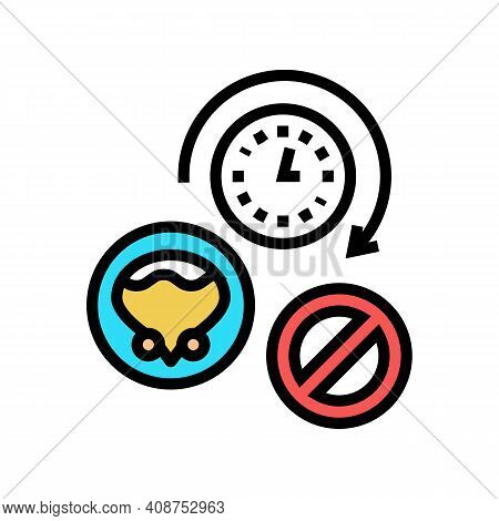 Long Time Without Urination Color Icon Vector. Long Time Without Urination Sign. Isolated Symbol Ill