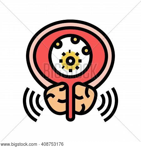 Virus Disease Bladder Color Icon Vector. Virus Disease Bladder Sign. Isolated Symbol Illustration