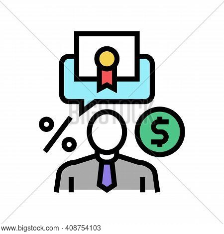 Investor Business Color Icon Vector. Investor Business Sign. Isolated Symbol Illustration
