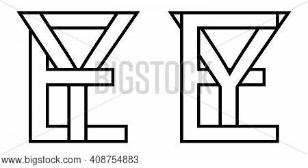 Logo Sign Ey Ye Icon Sign Interlaced Letters Y, E Vector Logo Ey, Ye First Capital Letters Pattern A