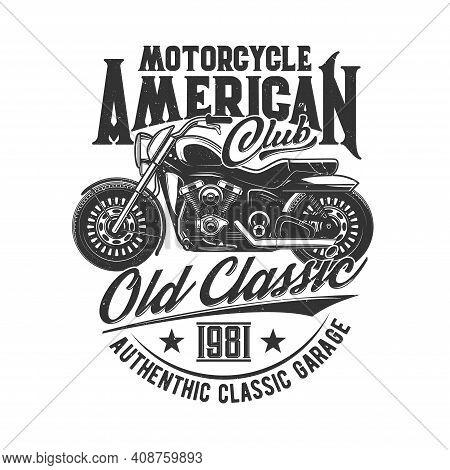 Motorcycle Races, Bikers Club, Motorbike Riders Motor Sport, Vector Icon. Motorcycle Racing And Spee
