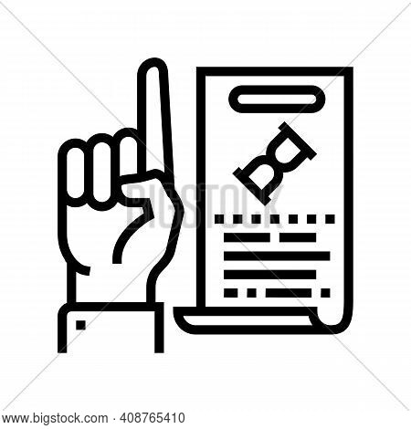 Opinion Expert Line Icon Vector. Opinion Expert Sign. Isolated Contour Symbol Black Illustration