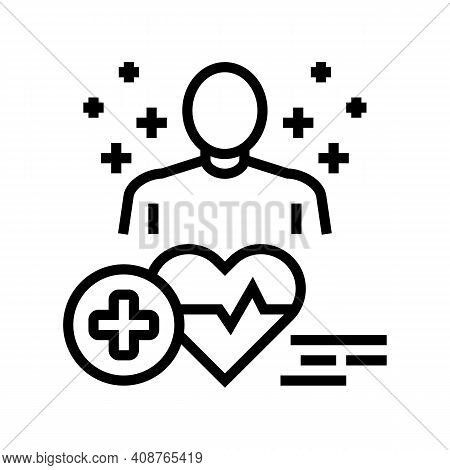 Medical Expert Line Icon Vector. Medical Expert Sign. Isolated Contour Symbol Black Illustration