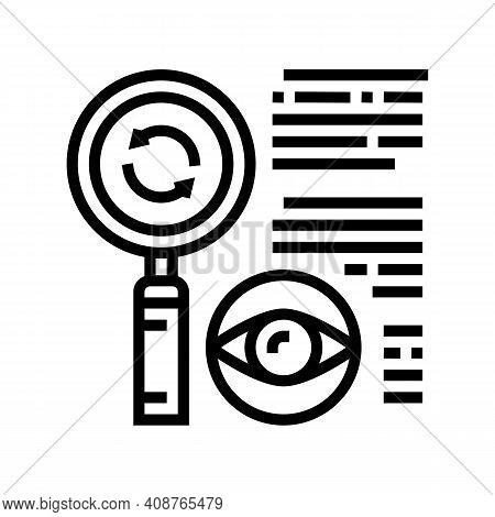 Recheck Expert Line Icon Vector. Recheck Expert Sign. Isolated Contour Symbol Black Illustration