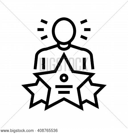 Universal Expert Line Icon Vector. Universal Expert Sign. Isolated Contour Symbol Black Illustration