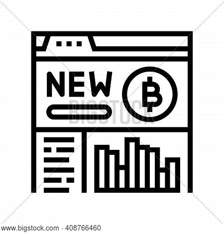 Platform Ico Line Icon Vector. Platform Ico Sign. Isolated Contour Symbol Black Illustration