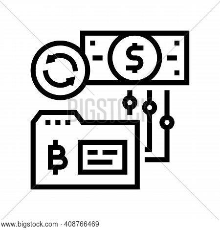 Reverse Ico Line Icon Vector. Reverse Ico Sign. Isolated Contour Symbol Black Illustration