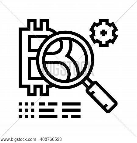 Token Development Ico Line Icon Vector. Token Development Ico Sign. Isolated Contour Symbol Black Il
