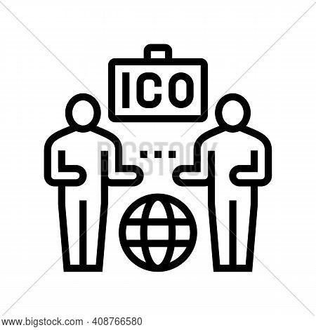 Investors Ico Line Icon Vector. Investors Ico Sign. Isolated Contour Symbol Black Illustration