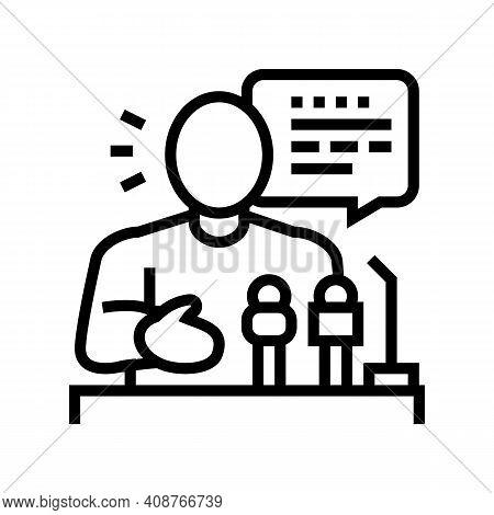 Relaiter Pr Line Icon Vector. Relaiter Pr Sign. Isolated Contour Symbol Black Illustration