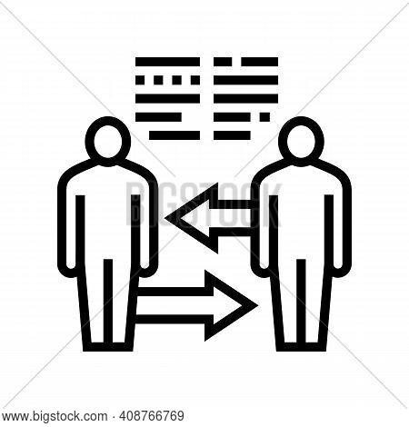 Exchange Skills Pr Line Icon Vector. Exchange Skills Pr Sign. Isolated Contour Symbol Black Illustra