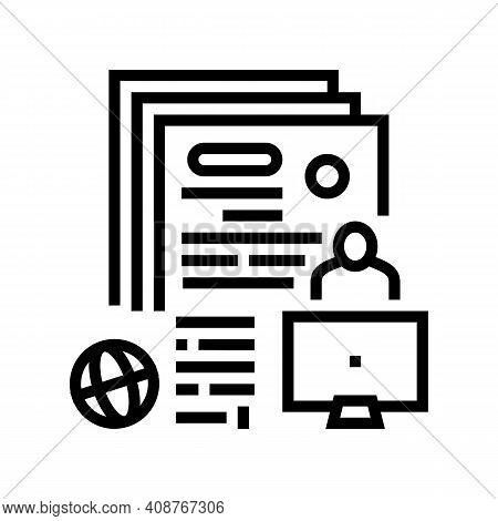 Writing Press Release Line Icon Vector. Writing Press Release Sign. Isolated Contour Symbol Black Il