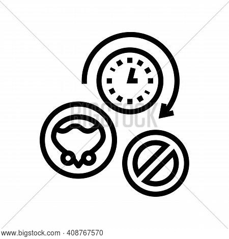 Long Time Without Urination Line Icon Vector. Long Time Without Urination Sign. Isolated Contour Sym