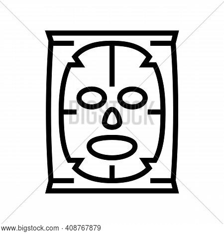 Facial Mask Beauty Accessory Line Icon Vector. Facial Mask Beauty Accessory Sign. Isolated Contour S