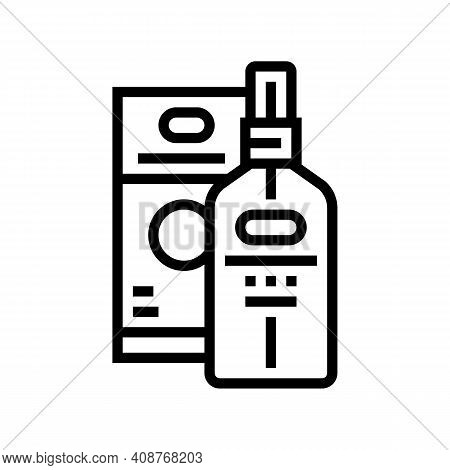 Essential Oil Line Icon Vector. Essential Oil Sign. Isolated Contour Symbol Black Illustration