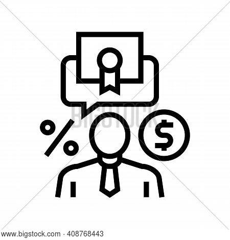 Investor Business Line Icon Vector. Investor Business Sign. Isolated Contour Symbol Black Illustrati