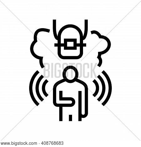 Fear Tooth Braces Line Icon Vector. Fear Tooth Braces Sign. Isolated Contour Symbol Black Illustrati