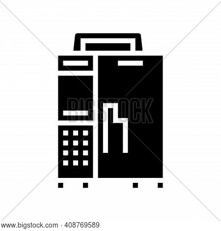 Infusion Pump Glyph Icon Vector. Infusion Pump Sign. Isolated Contour Symbol Black Illustration