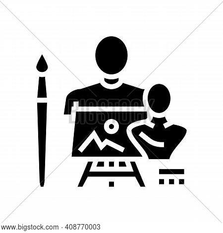 Art Expert Glyph Icon Vector. Art Expert Sign. Isolated Contour Symbol Black Illustration