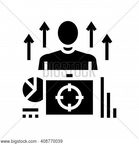 Business Expert Glyph Icon Vector. Business Expert Sign. Isolated Contour Symbol Black Illustration