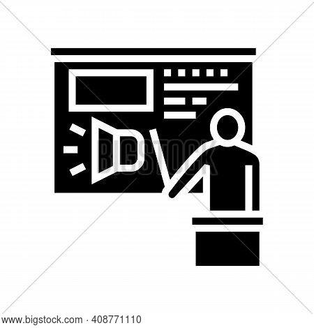 Presentation Pr Glyph Icon Vector. Presentation Pr Sign. Isolated Contour Symbol Black Illustration