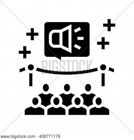 Event Pr Glyph Icon Vector. Event Pr Sign. Isolated Contour Symbol Black Illustration