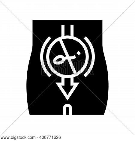 Sperm Sterilization Glyph Icon Vector. Sperm Sterilization Sign. Isolated Contour Symbol Black Illus