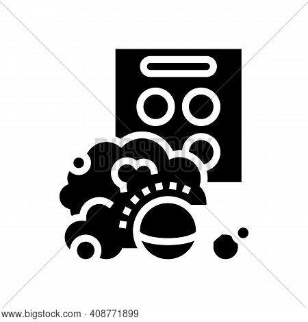 Aqua Bombs Glyph Icon Vector. Aqua Bombs Sign. Isolated Contour Symbol Black Illustration