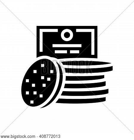 Face Sponges Glyph Icon Vector. Face Sponges Sign. Isolated Contour Symbol Black Illustration