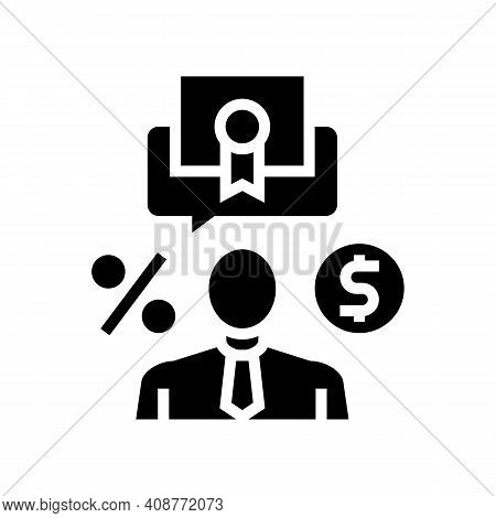 Investor Business Glyph Icon Vector. Investor Business Sign. Isolated Contour Symbol Black Illustrat