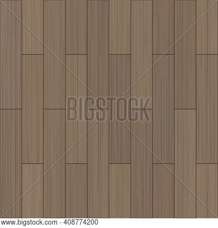 Floor Wood Texture. Vector Seamless Pattern. Wooden Parquet, Top View. Flooring Wooden Pattern. Floo