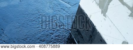 Covered With A Layer Of Waterproofing Mastic