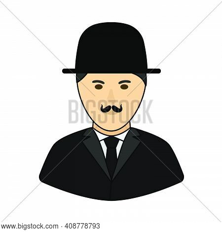 Detective Icon. Editable Outline With Color Fill Design. Vector Illustration.