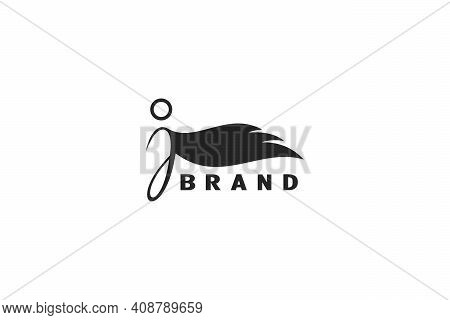 The Letter J Logo Design, With The Human Winged Design Concept, A Modern And Unique Logo Design.