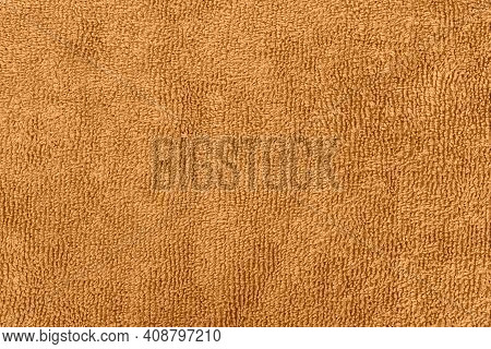 Background Or Texture Made Of Orange Microfiber Fabric
