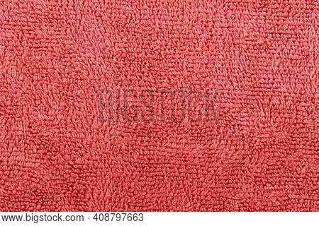 Background Or Texture Made Of Red Microfiber Fabric