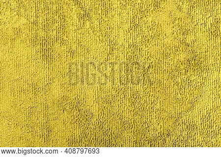 Background Or Texture Made Of Yellow Microfiber Fabric