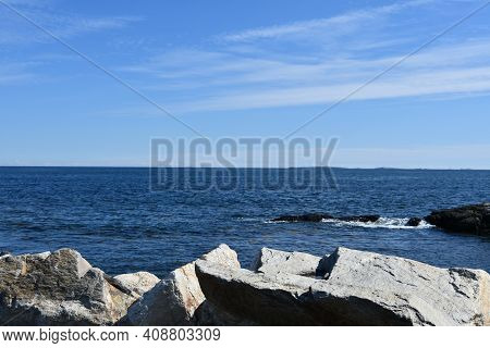 Beach At Odiorne Point State Park In Rye, New Hampshire